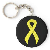 Yellow Ribbon Support Awareness Keychain