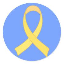 Yellow Ribbon Tshirt Gift Classic Round Sticker