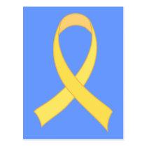 Yellow Ribbon Tshirt Gift Postcard
