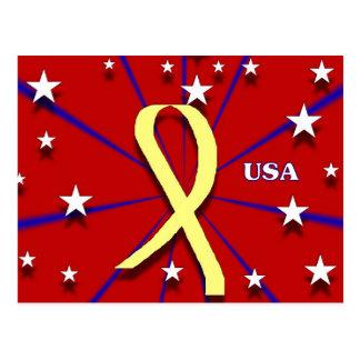 Yellow Ribbon USA Postcard