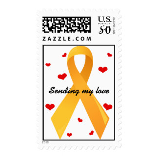 Yellow Ribbon: White Postage