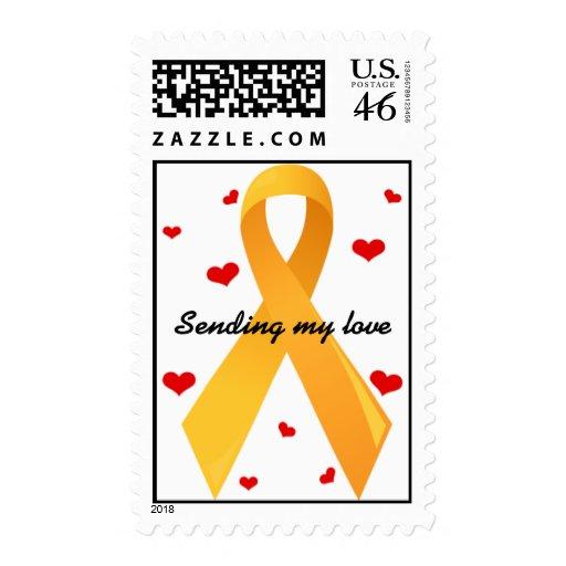 Yellow Ribbon: White Postage