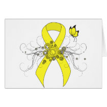 Yellow Ribbon with Butterfly