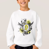 Yellow Ribbon With Wings Bladder Cancer Sweatshirt