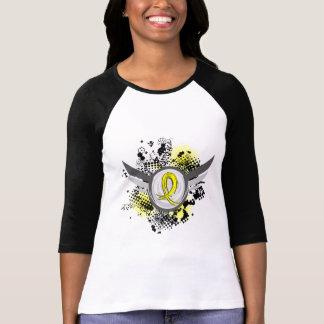Yellow Ribbon With Wings Endometriosis T-Shirt