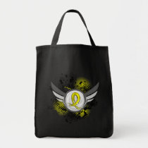 Yellow Ribbon With Wings Endometriosis Tote Bag