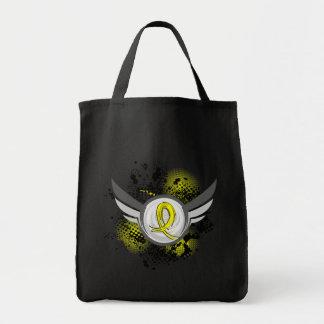 Yellow Ribbon With Wings Endometriosis Tote Bag