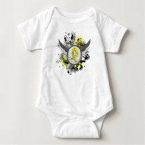 Yellow Ribbon With Wings Hydrocephalus Baby Bodysuit
