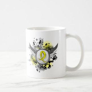 Yellow Ribbon With Wings Hydrocephalus Classic White Coffee Mug