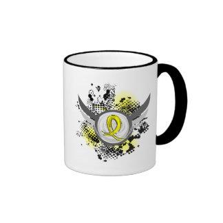 Yellow Ribbon With Wings Hydrocephalus Ringer Coffee Mug