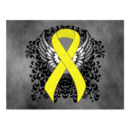 Yellow Ribbon with Wings Post Cards