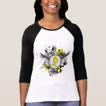 Yellow Ribbon With Wings Sarcoma T-Shirt