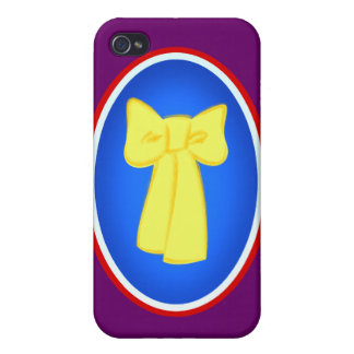 Yellow Ribbons iPhone 4 Cover