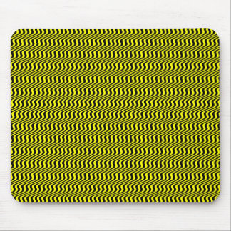Yellow Ripple Stripes Mouse Pad