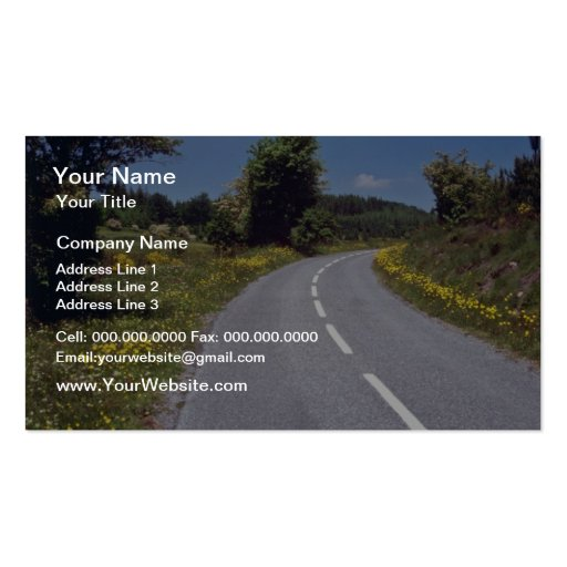yellow Roadside flowers, Languedoc, France flowers Business Cards