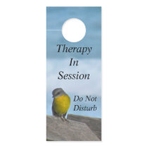 Yellow Robin Bird - Therapy In Session Door Hanger