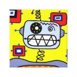 Yellow Robot Portrait Stretched Canvas Prints
