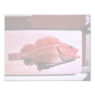 Yellow Rock Fish 4.25x5.5 Paper Invitation Card