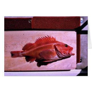 Yellow Rockfish Greeting Card