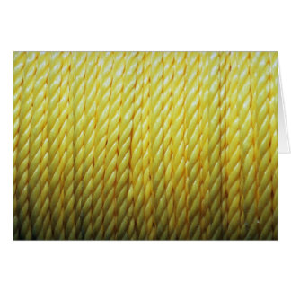 Yellow rope greeting cards