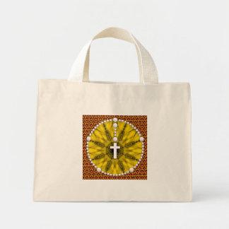 Yellow Rosary Dream Catcher Mini Tote Bag