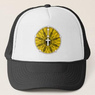 Yellow Rosary Dream Catcher Trucker Hat