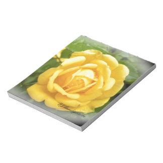 """Yellow Rose, 5.5"""" x 6"""" Notepad By EJMandigo.com"""