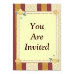 "Yellow Rose 5"" X 7"" Invitation Card"