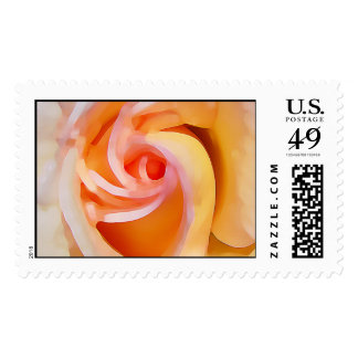 Yellow Rose, Abstract Postage