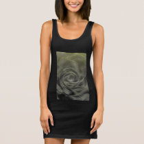 Yellow Rose Abstract Sleeveless Dress