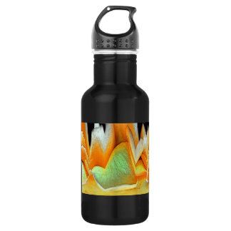 Yellow Rose Abstract Stainless Steel Water Bottle
