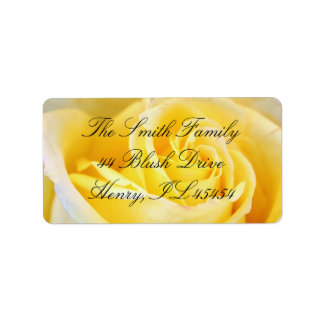 Yellow Rose Address Labels