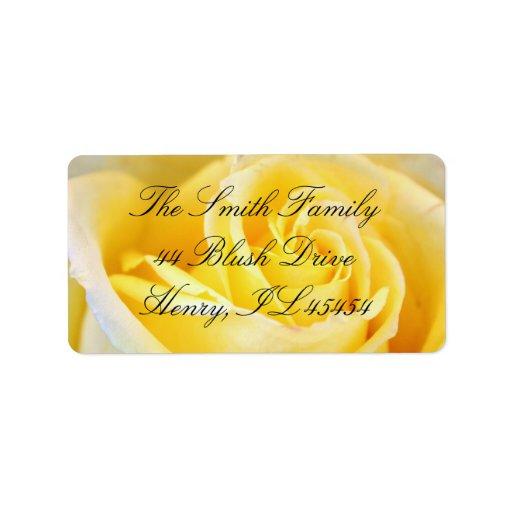 Yellow Rose Address Labels
