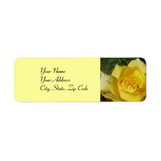 Yellow Rose address lables Label