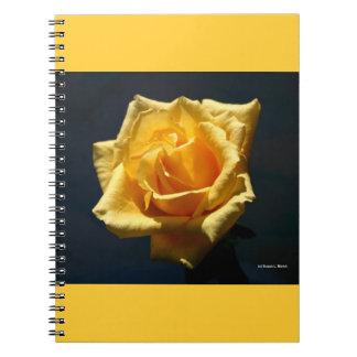 Yellow Rose against dark background design Notebook