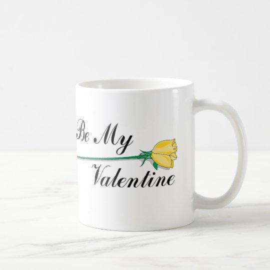Yellow Rose Be My Valentine Coffee Mug
