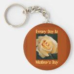 Yellow Rose Beauty Key Chains