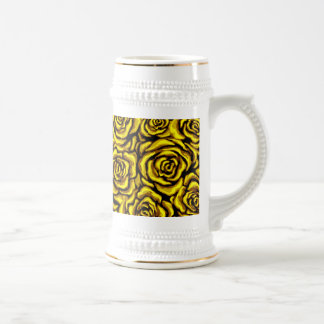 Yellow Rose Beer Stein