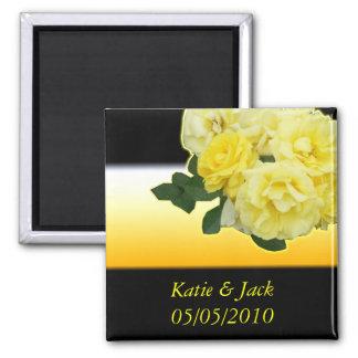 yellow rose black and orange refrigerator magnets