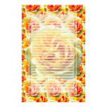 Yellow Rose Bloom Lined Stationery