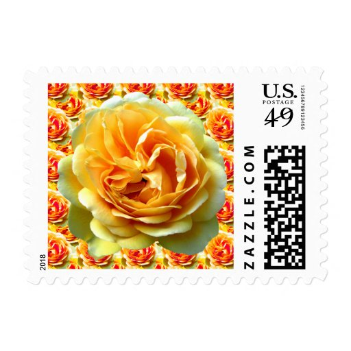 Yellow Rose Bloom Stamps
