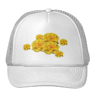 Yellow Rose Blooms hat