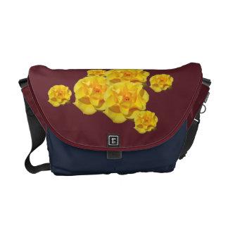 Yellow Rose Blooms messengerbag Messenger Bags