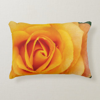 yellow rose blossom accent pillow