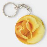 Yellow Rose Blossom Keychain
