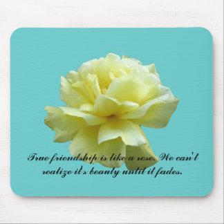 Yellow Rose Blossom Mousepad