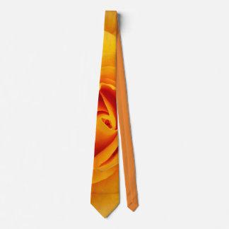 yellow rose blossom neck tie