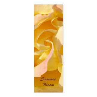 Yellow Rose Bookmark Profile card Mini Business Card