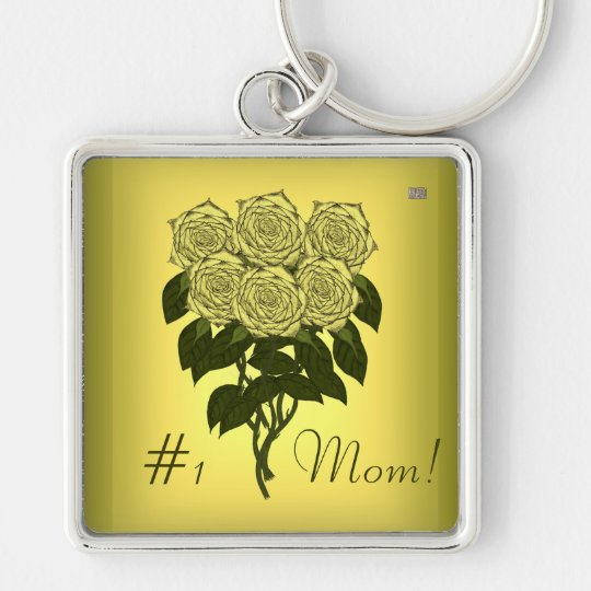 Yellow Rose Bouquet Keychain