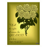 Yellow Rose Bouquet (Mothers Day)(Canvas Print)